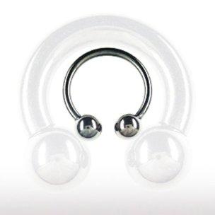 Schwarz Intimpiercing Hufeisen 2,5mm septum piercing