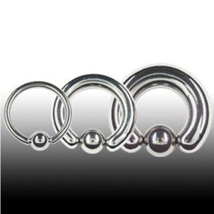 2,5mm Titan Piercing Klemmkugel Ring