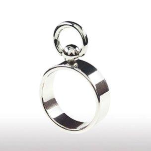 Edelstal silber BDSM Ring der O für Frau