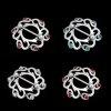 BRUST PIERCING Schmuck Tribal Schild mit 6 Kristallen