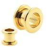 Flesh Tunnel Piercing Gold