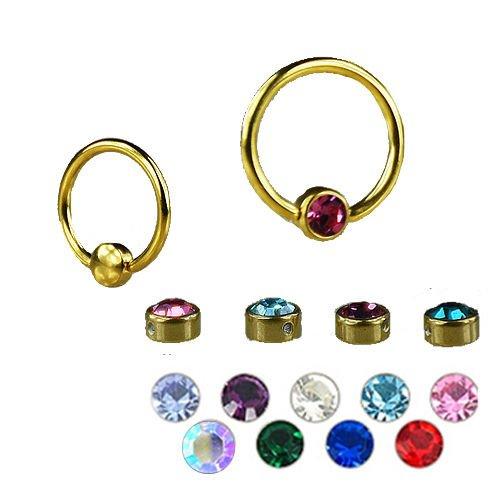Gold Kugel Flatback mit kristall für Lippenbändchen
