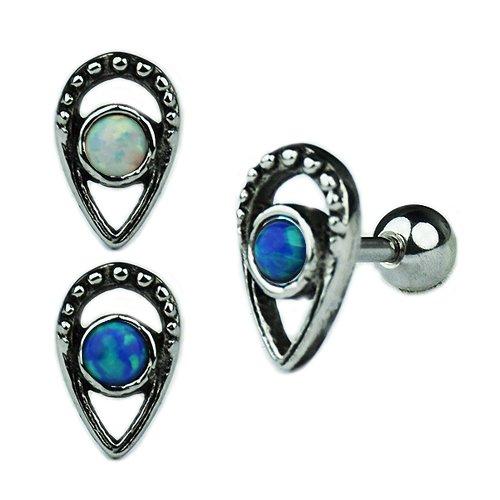 Silber/ Blau